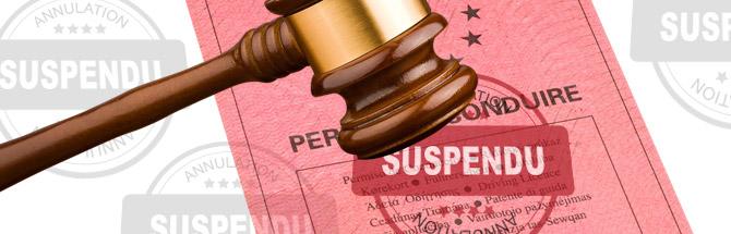 Annulation de permis suspension de permis
